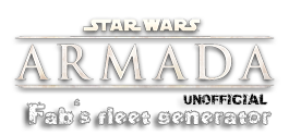 Fab's Squadrons generator - X-wing Miniatures game - HOME